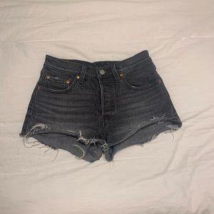 Black 501 Levi's shorts